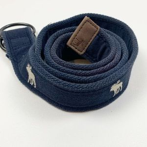 Abercrombie & Fitch Navy Blue Moose Cloth Belt